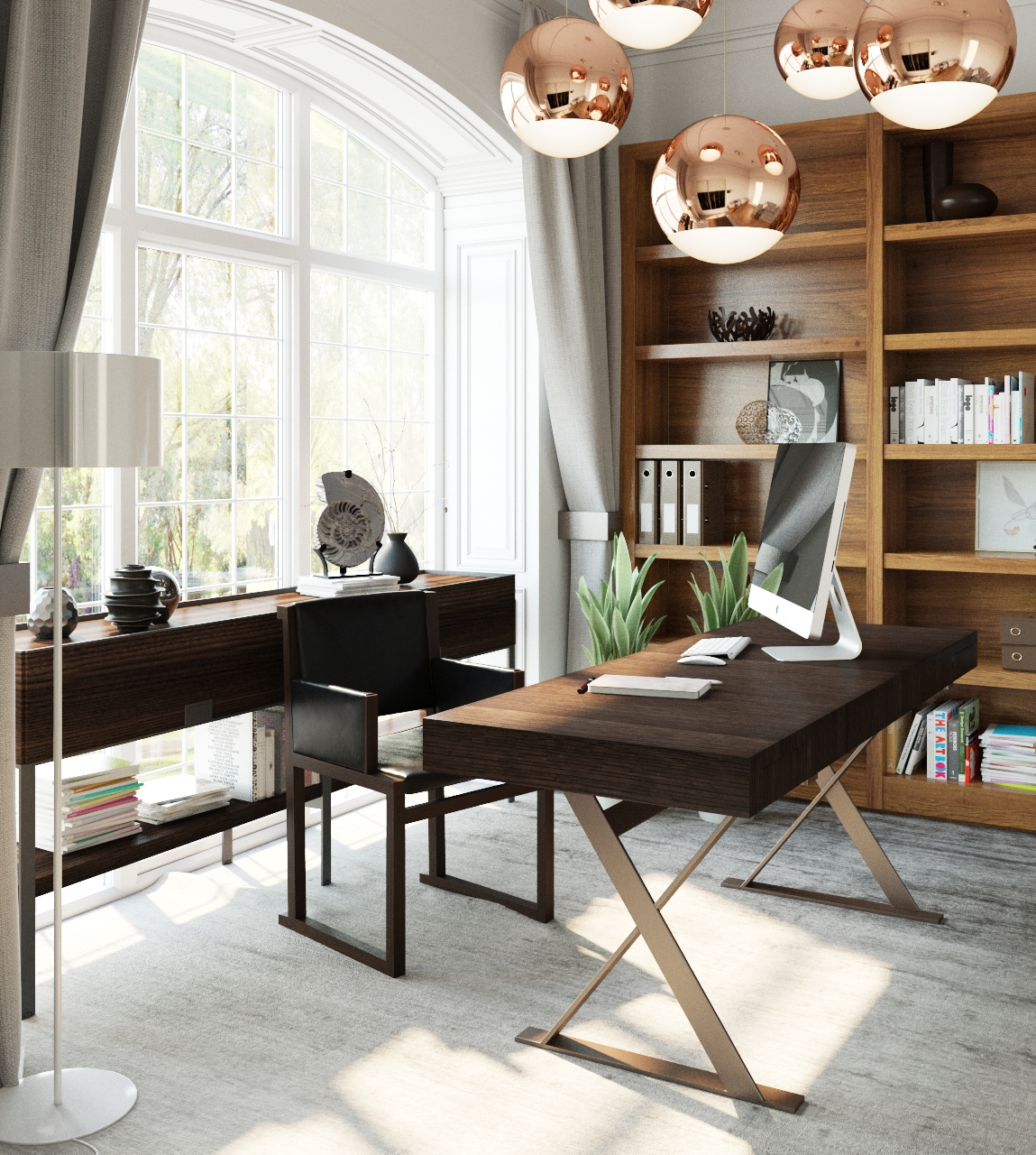 Modern Home Office thewowdecor (21)