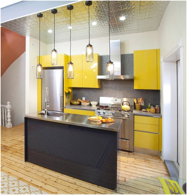 Minimalist Yellow Kitchen Cabinets Thewowdecor