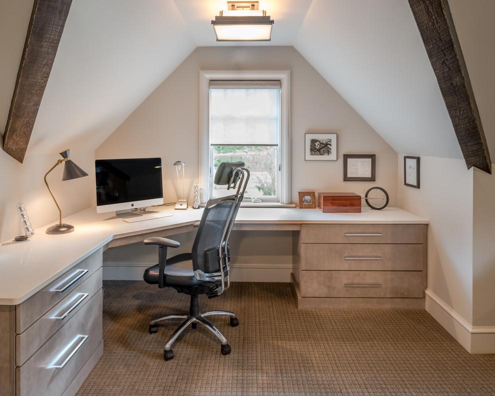 Rustic Style Attic Office Design Thewowdecor