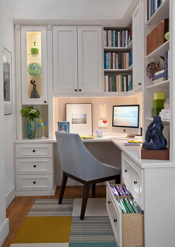 Small White Home Office Interior Design Thewowdecor