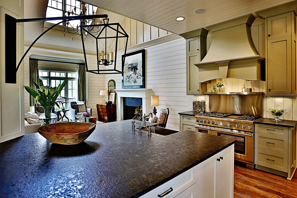 Farmhouse Style Kitchen with Zinc Countertops Ideas