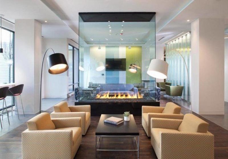Glass Fireplace Design