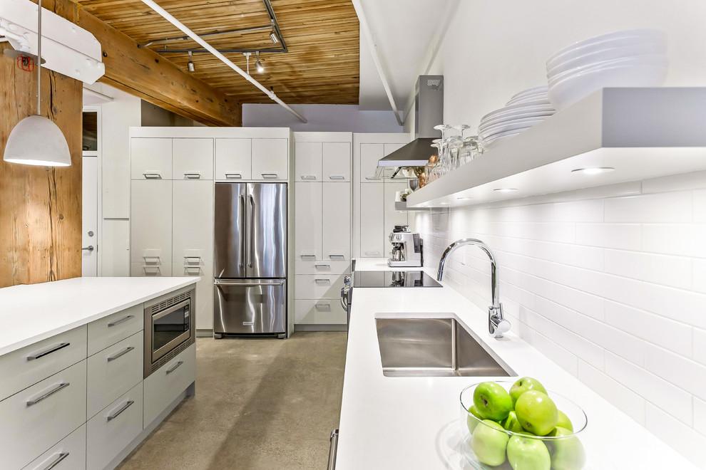 Loft-appartment-industrial-kitchen