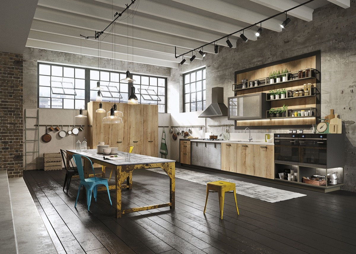 industrial-style-kitchen-bright-color