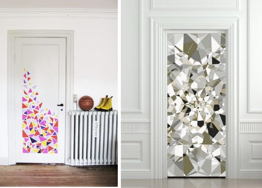 Decorate the door.
