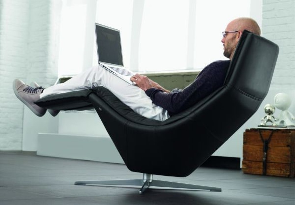 Work in style with this modern recliner