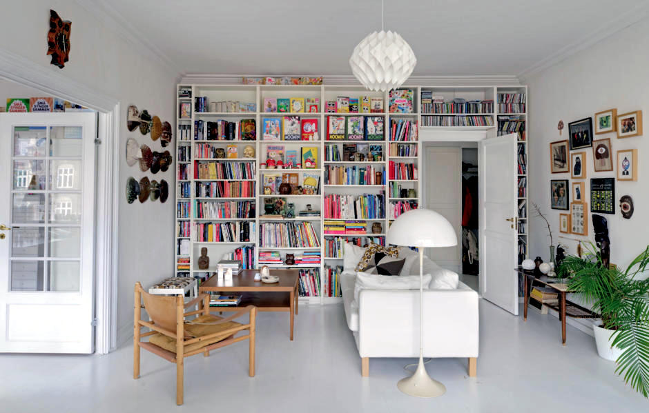 Wall decor with books