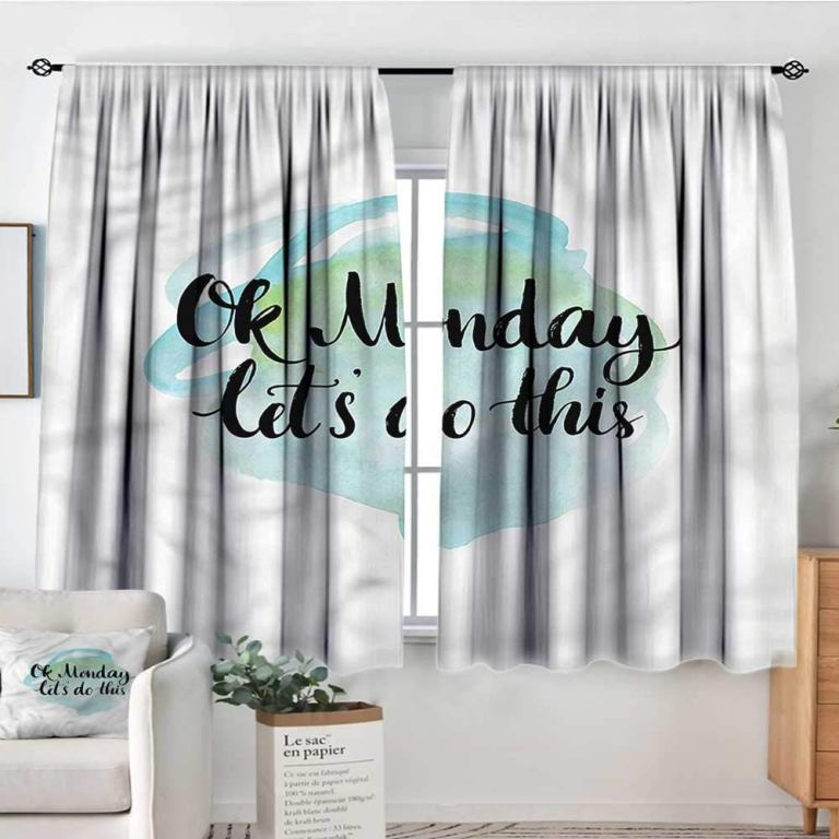 Start with the curtains
