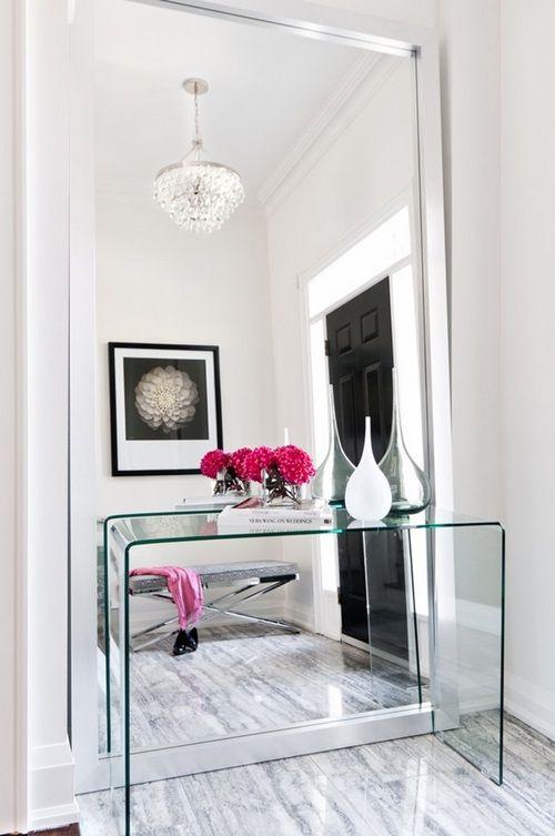 Transparent furniture pieces