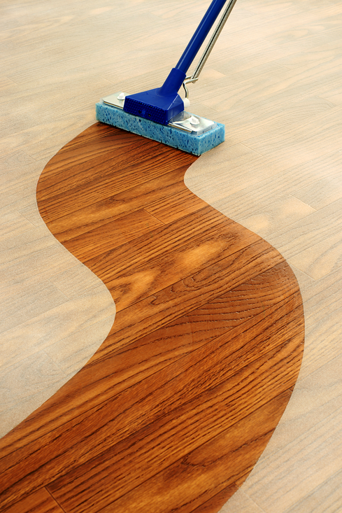 Clean Hardwood Floors and Stainless Steel Surfaces Along Their Grains