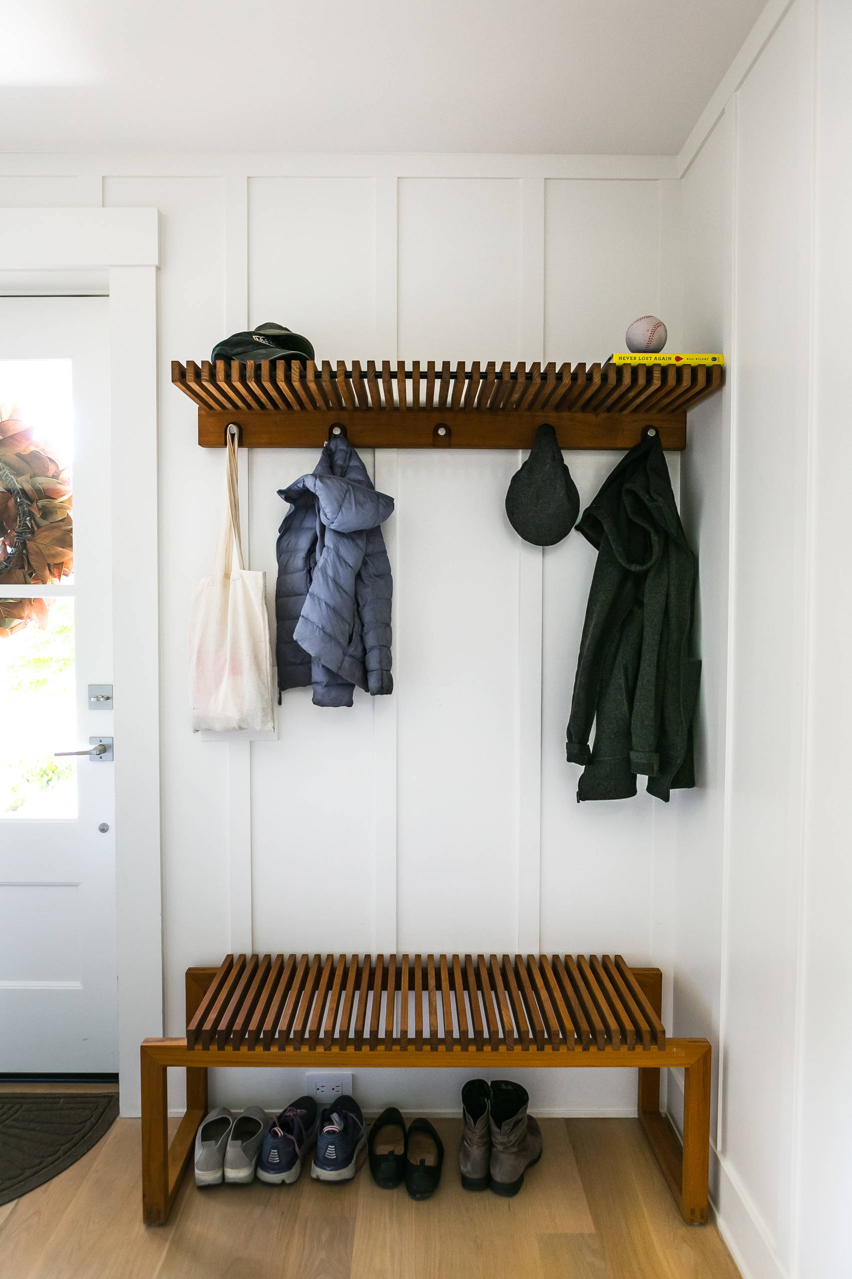 Functional Coat Rack with Floating Shelf