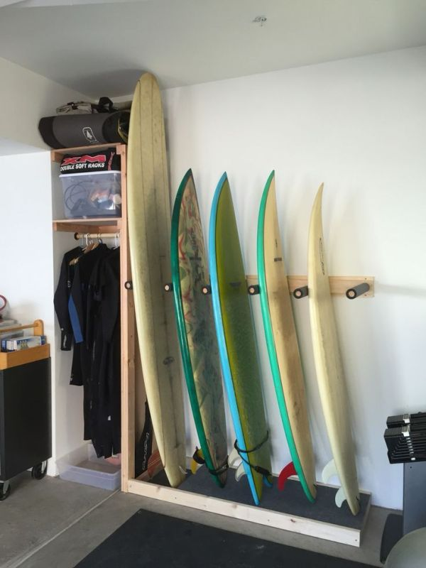Types of Racks for Storing Surfboards at Home