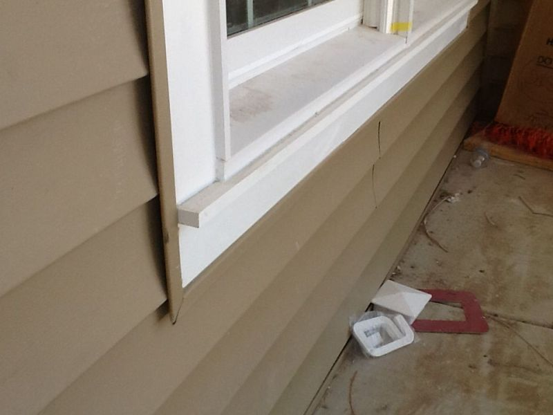 PVC Window Sill Installation