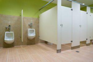 Toilet Partitions Los Angeles: Choosing HDPE Plastic
