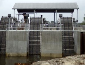 wastewater treatment equipment. coarse screen
