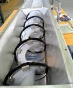 Spinner Shark Screw Conveyor. Screenings Handling