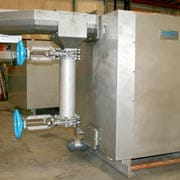 Tresher Shark Washing Machine. Screenings Handling.