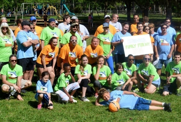 Group shot at Family Fun Day Kickball Tournament