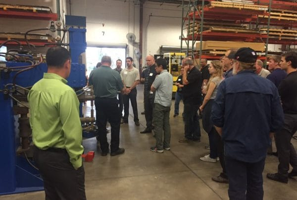 Group touring Hydro-Dyne facility