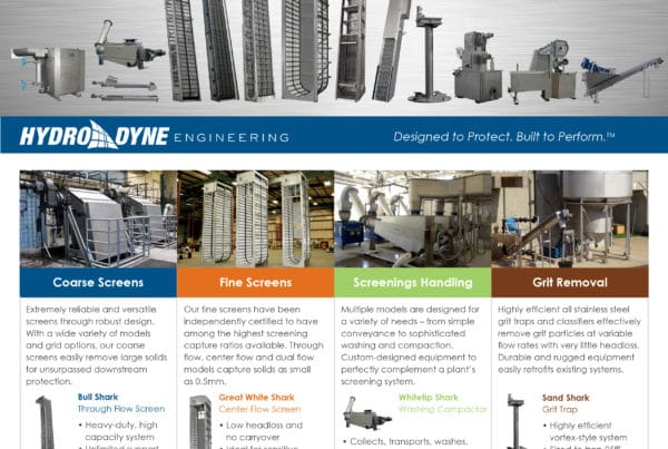 Hydro-Dyne Products Overview Literature