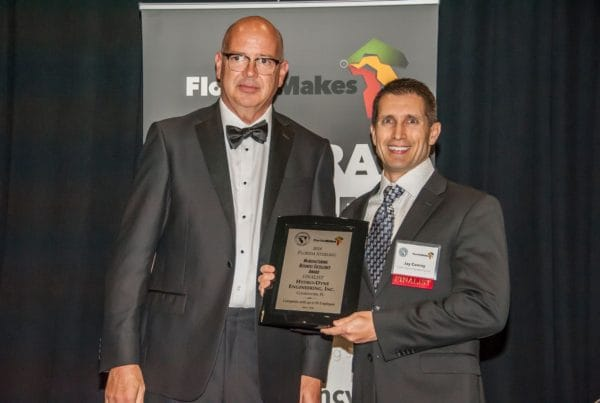 Jay Conroy accepting award