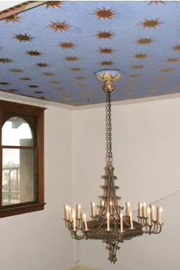 Chandelier Blue Ceiling