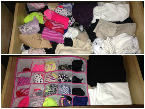 Panty Drawer Before/After Drawer Organizers