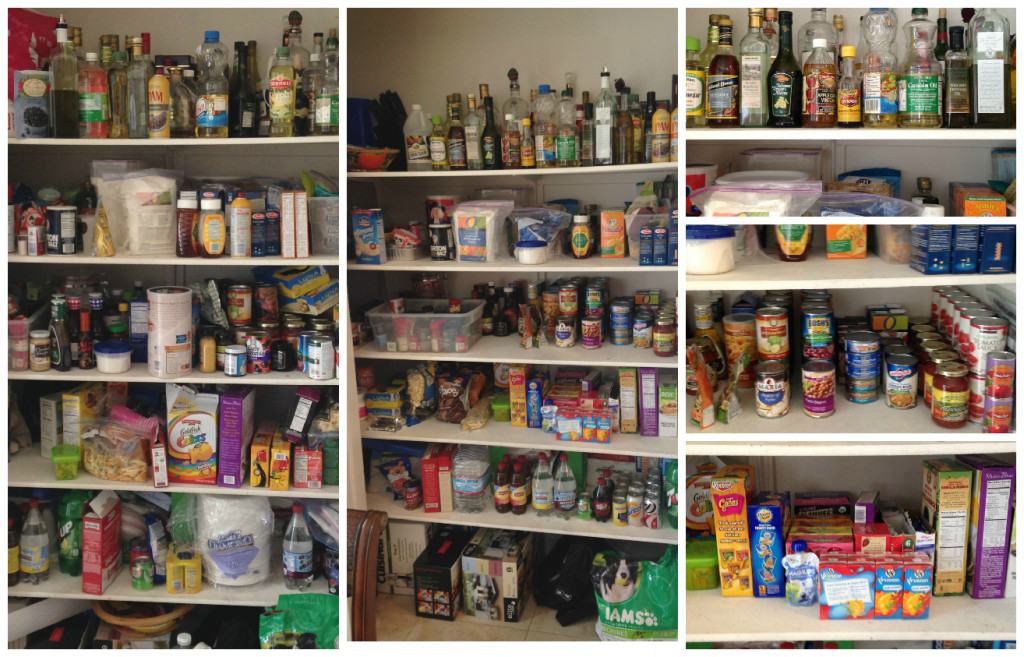 A large pantry, before and after
