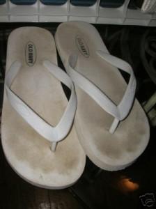 Gross White Flip-Flops You Don't Need