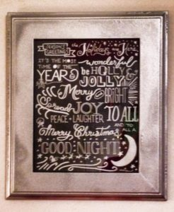 Holiday Decorating Font Art