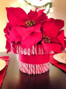 Holiday Decorating Candy Cane Centerpiece