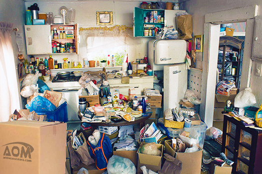 Hoarding - the kitchen of a hoarder