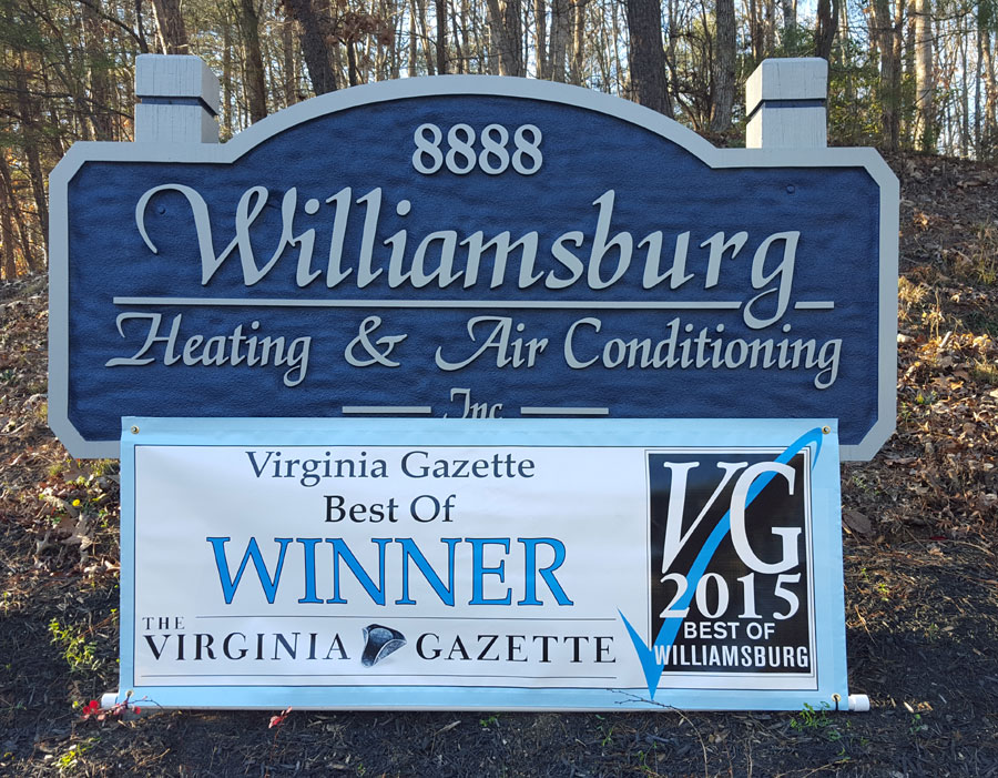 Williamsburg Heating & Air Conditioning winner of Best of Williamsburg 2015
