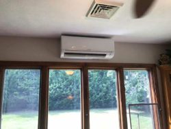 Mitsubishi Ductless System installation by Williamsburg Heating & Air Conditioning