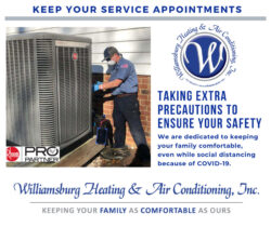 Williamsburg Heating & Air Conditioning, Inc. - Protection against COVID-19