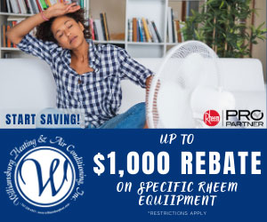 Rebate from Williamsburg Heating and Air Conditioning - Family owned