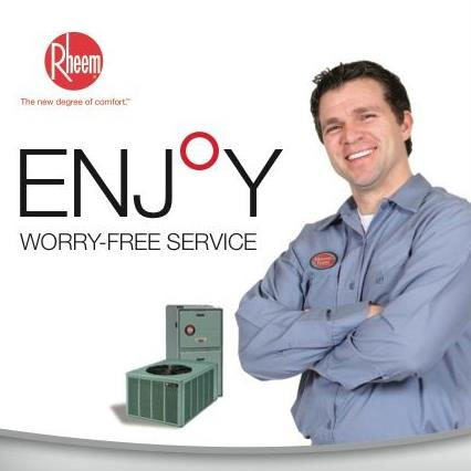 Williamsburg HVAC is part of the Rheem Team - respond within minutes