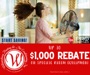 July 2020 - Williamsburg Heating & Air Conditioning - equipment rebate