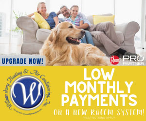 July 2020 - Williamsburg Heating & Air Conditioning - low monthly payments on new equipment