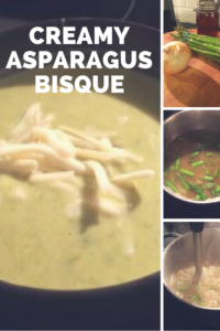 Creamy asparagus soup tastes indulgent but can be made low-fat.
