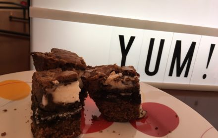 Adding York peppermint patties and Oreos to a plain brownie recipe or mix is an easy way to dress them up!