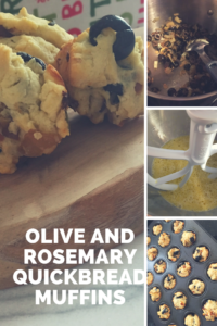 Olive and rosemary quickbread muffins