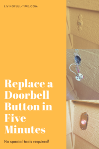 Step-by-step directions for how to replace your doorbell button. It takes five minutes and is so easy!