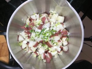 green onions scallions celery potatoes