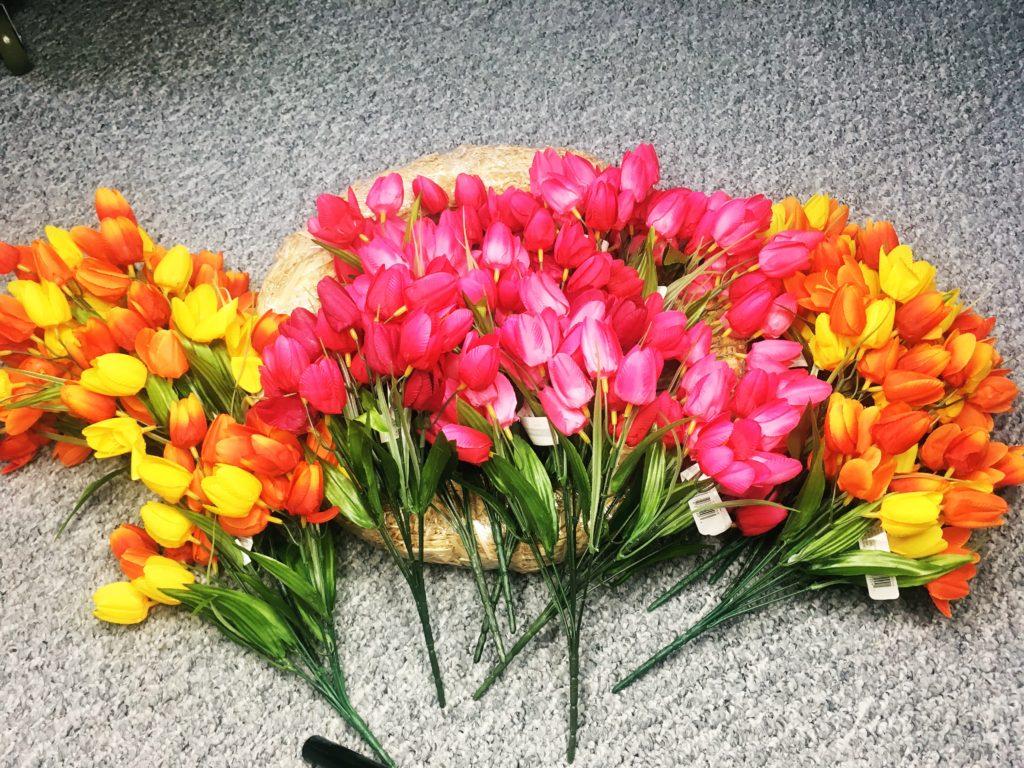 tulip wreath materials mini tulip bush