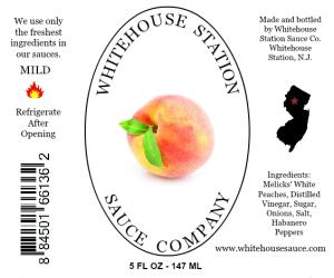 Peach-Habanero sauce label