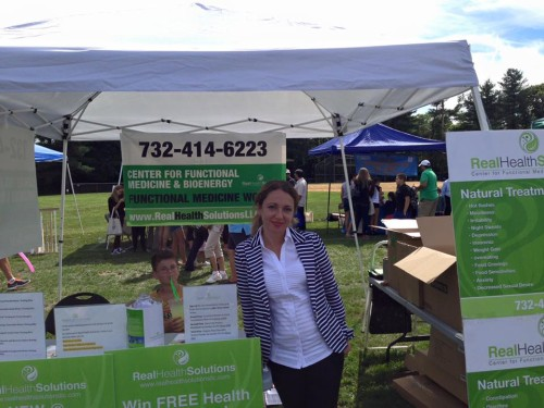 Inna promoting Real Health Solutions at Marlboro Day