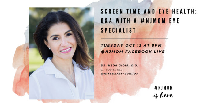 Facebook Live NJ Mom is here - Dr. Neda Gioia - Intergrative VIsion