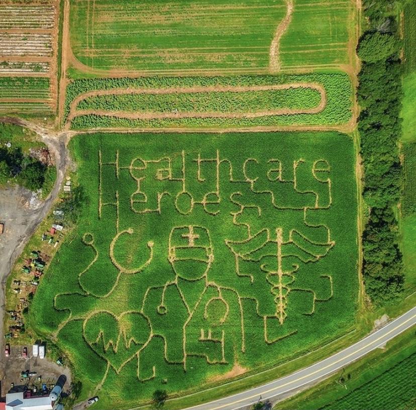 healthcare heroes corn maze Ort Farms NJMOM NJ corn maze