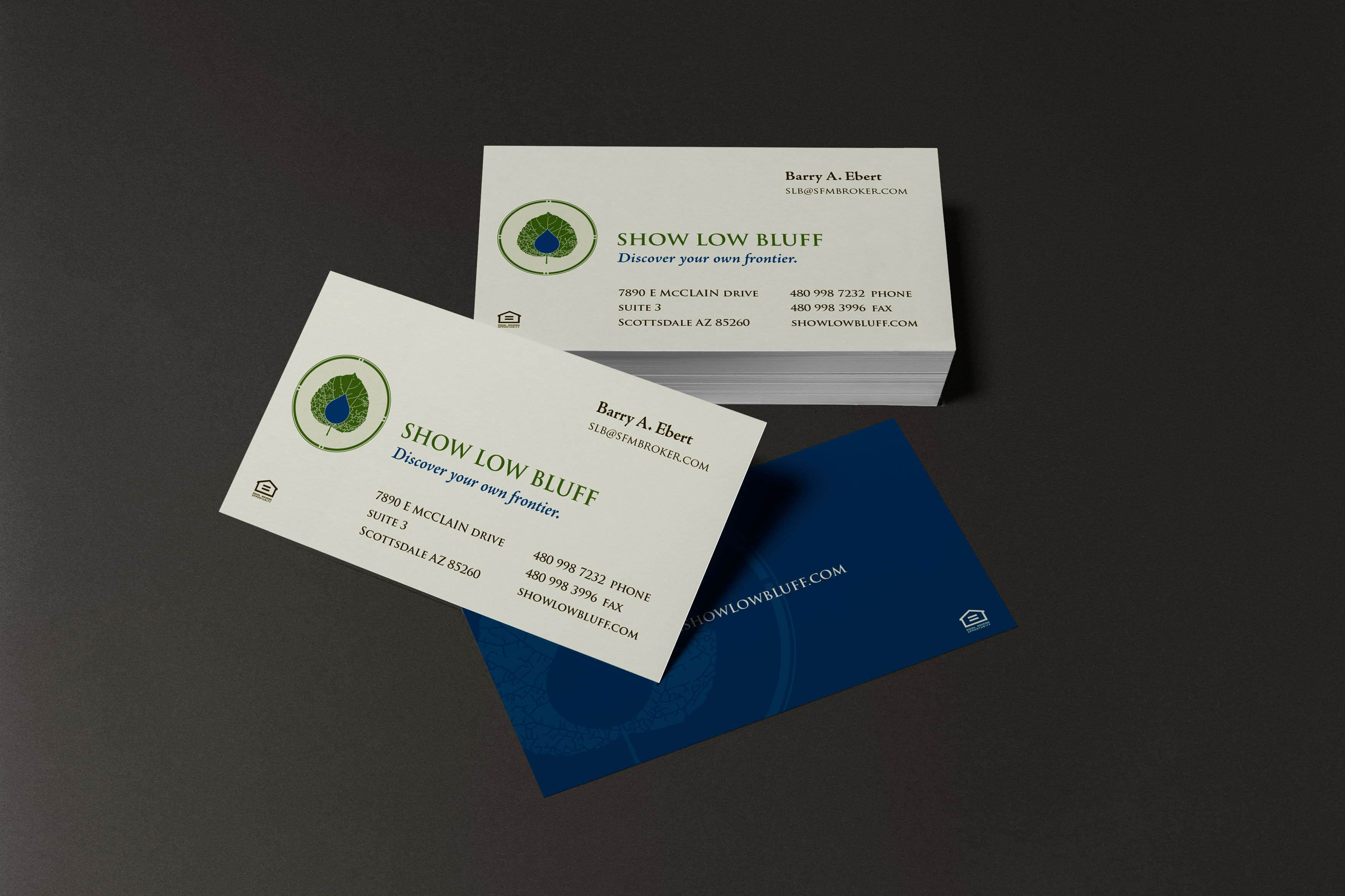 Brand Identity Application-Show Low Bluff Business Card Design